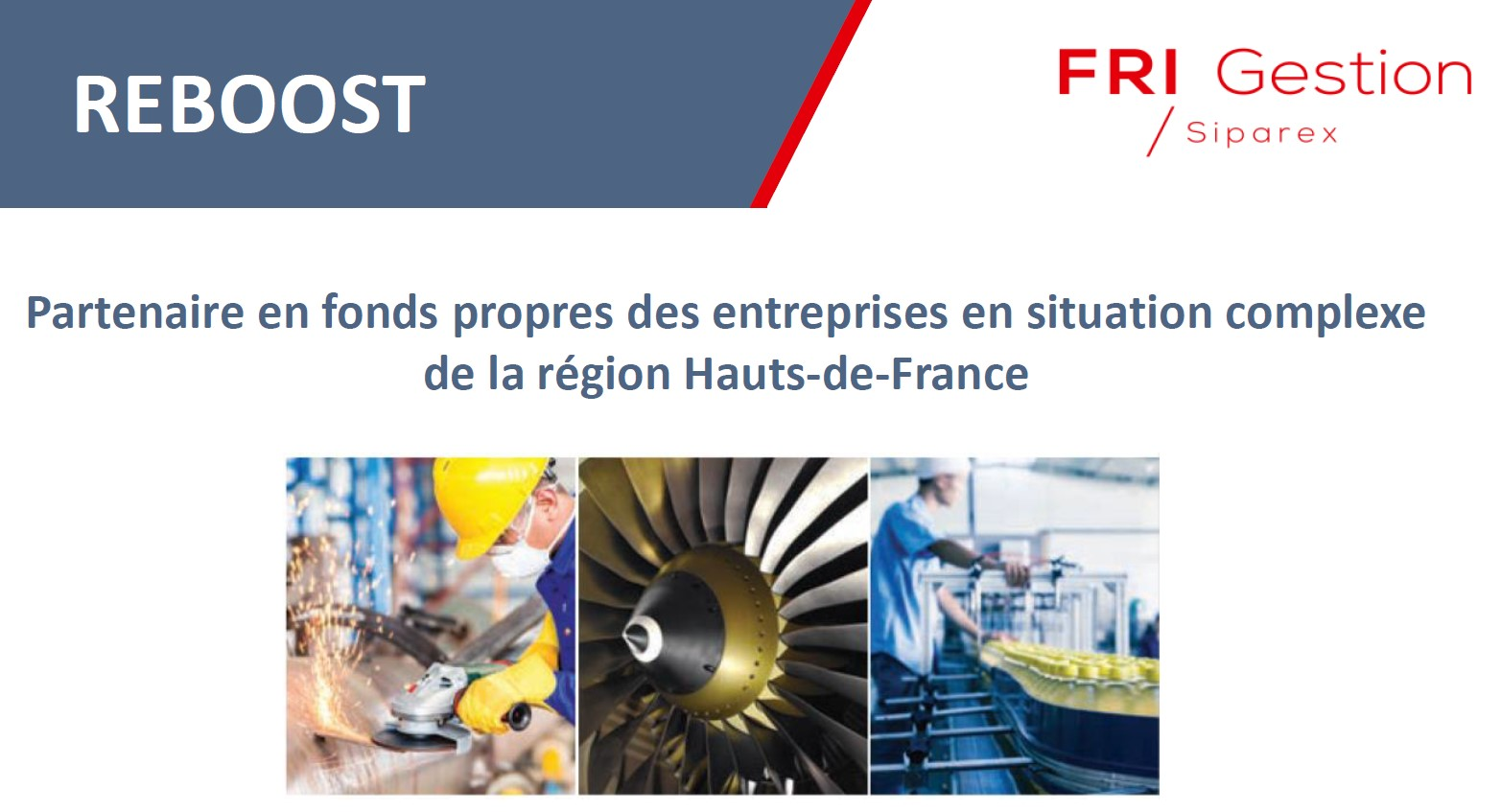 Le fonds Reboost en Hauts-de-France